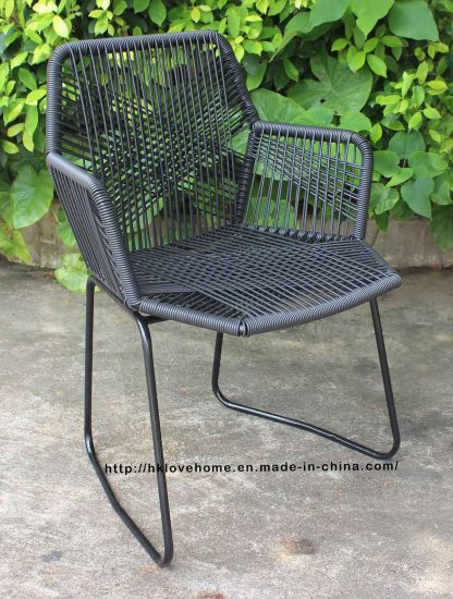 black rattan chair bobby knight throws china replica outdoor indoor steel armchair tropicalia