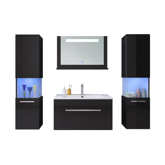 China Luxury Event Glass Partition Led Blue Bathroom Bathroom Vanity China Bathroom Vanities Bathroom Cabinet