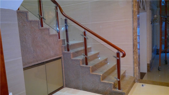China Modern Stainless Steel Glass Steel Wood Stair Handrail   Staircase Handrail Wood Design   Wooden Balustrade   Modern   3 Story House   Internal Staircase Railing   Railing Colour