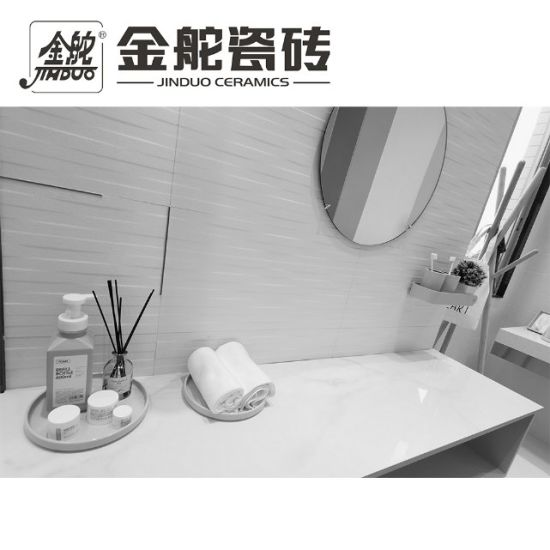 hot item glossy white 12x24 inch 300x600mm interior decorative wave ceramic wall tiles for bathroom