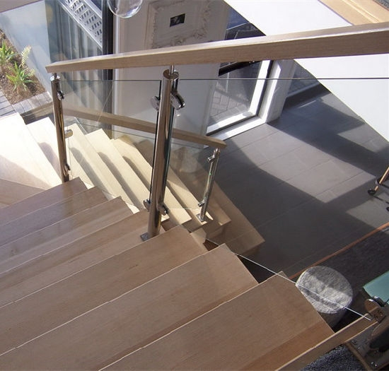 China Modern House Staircase Stainless Steel Glass Railing Design   Modern Home Stair Railings   Front Porch Stair Railing   Loft   Modern Glass Balustrade   Simple 2Nd Floor Railing Wood Stairs Iron Railing Design   Steel