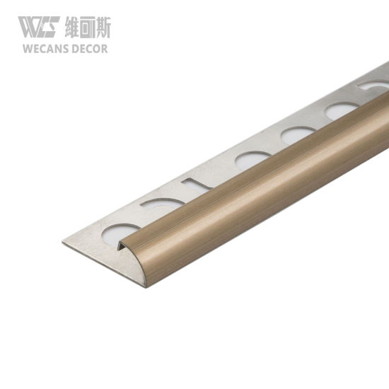 rose gold brushed round shape stainless steel tile edge trim