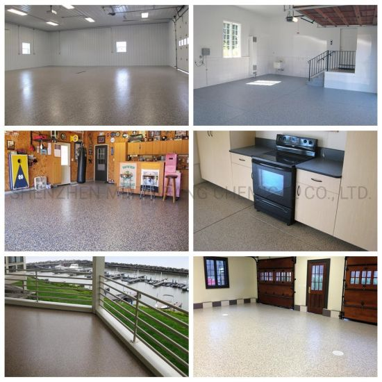 China Concrete Garage Floor Epoxy China Epoxy Decorative Floor Chip Flakes Coating Epoxy Chip Floor Coating