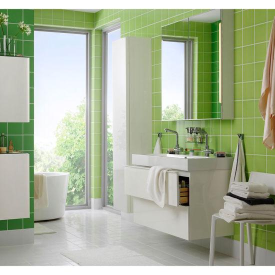 China Apple Green Glazed Bathroom Wall Tile 6x6 Inch 150x150mm China Ceramic Wall Tiles Green Ceramic Tile