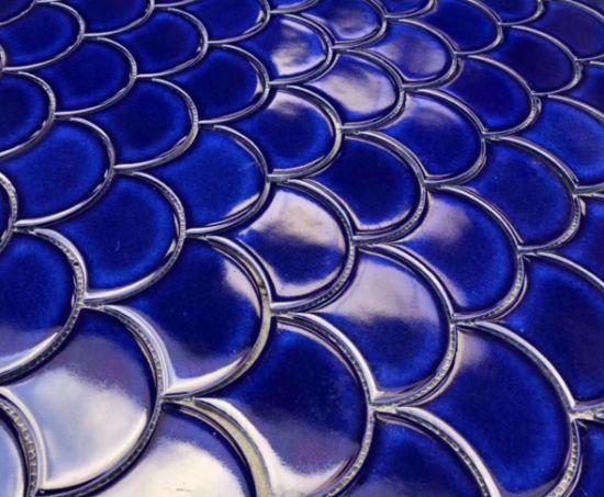 fish scale shape porcelain mosaic