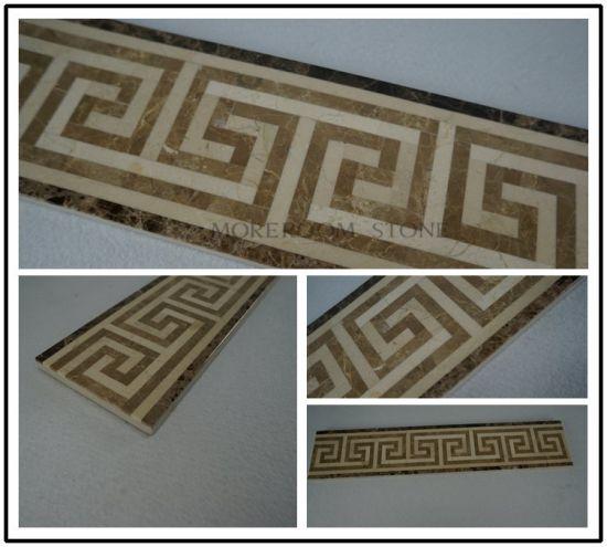 water jet flooring border tile marble