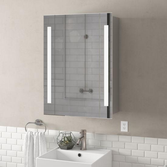 China Wall Mount Bathroom Vanity Smart Large Led Mirror Storage Cabinet China Medicine Cabinet Mirror Cabinet