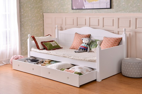 Hot Sale Modern Durable Wooden Children Bedroom Furniture Sets Kids Sofa Bed Girls Bed With Trundle Bed And Storage Drawers China Wooden Kids Bed Kids Car Bed Made In China Com