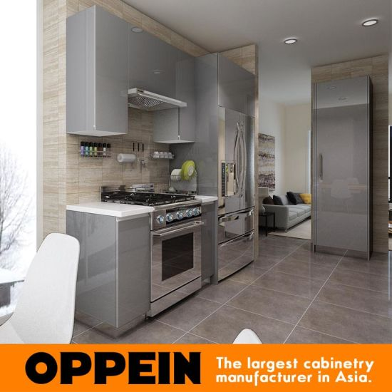 kitchen wholesale lowes cabinet doors china modern glossy grey wooden acrylic modular op16 a01