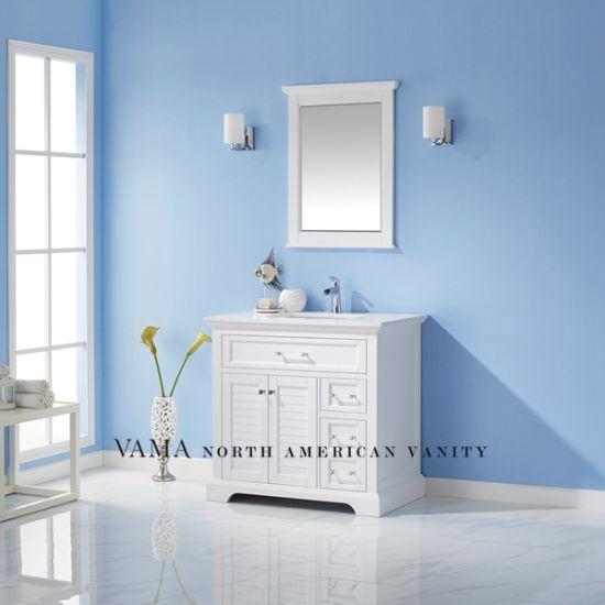 Vama 36 Inch Crystal Handles Bathroom Vanity Wooden Bathroom Cabinet 783036 China Pvc Bathroom Vanity Bathroom Vanities Made In China Com