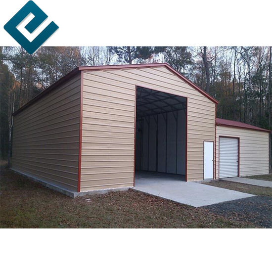 China Low Cost Of Building Hangar With Steel Structure Prefab House China Garage Steel Structure Garage