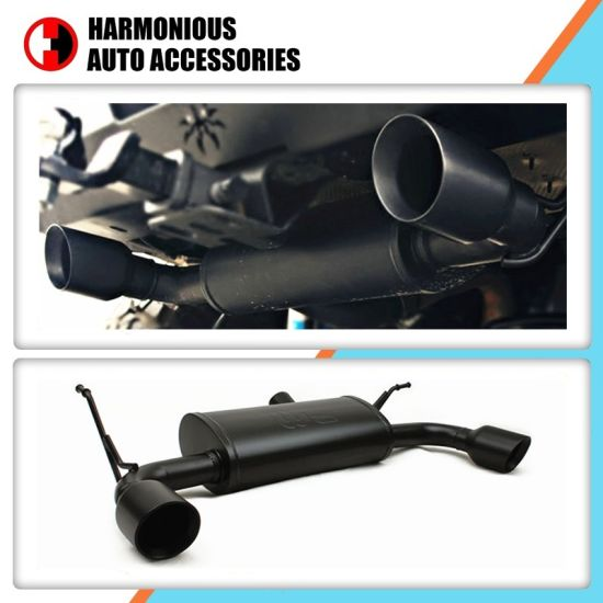 modified exhaust system muffler for jeep wrangler jk 2007 2017