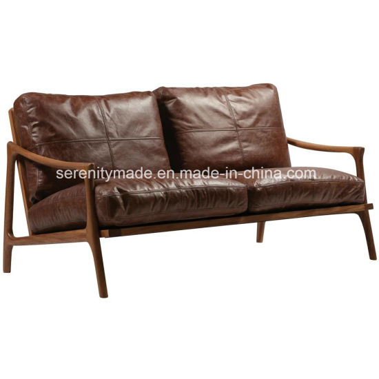 wood frame leather sofas stressless legend sectional sofa china vintage mid century 2 seater modern brown