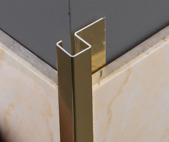 beautrim decorative metal marble tile edging trim