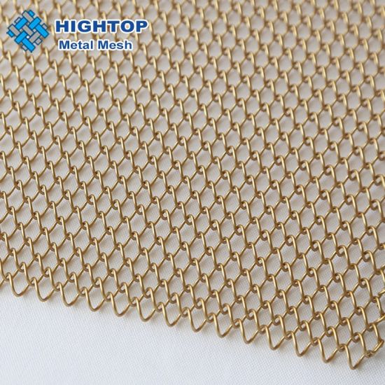 decorative aluminium metal chain link curtain with golden color
