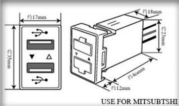 China 1.2A +2.1A Car Styling Original Position Dual USB