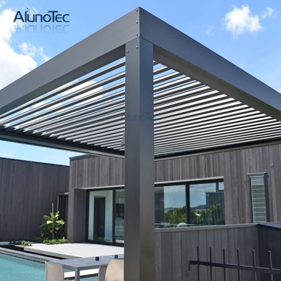 china motorised louver roof system