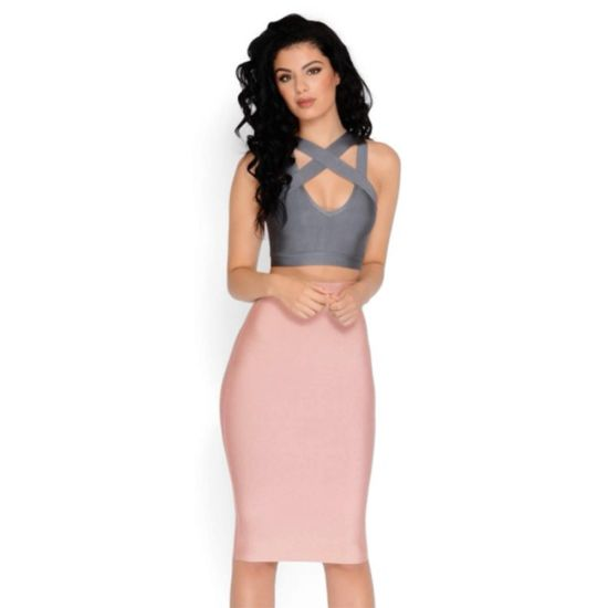 2018 Women New 3 Colors Latest Plus Size Long Slim Classic Tube Sexy Party Bandage Skirt