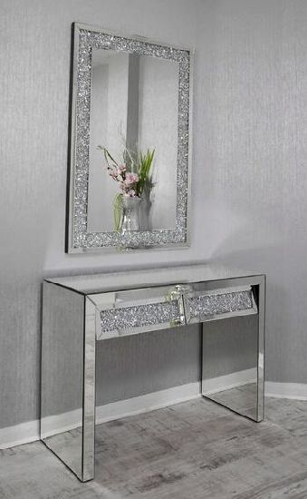 living room console tables mirrored paint color ideas 2018 china modern luxury elegant crystal mirror furniture with table pictures photos