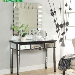 Living Room Console Tables Mirrored Pictures Of Rooms With Black Leather Couches China 3 Drawers Antique Glass Table