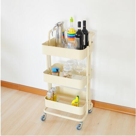 kitchen trolley cart stainless steel top china 4 wheels with basket
