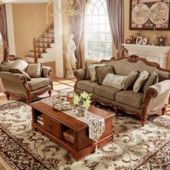 Wood Frame Living Room Furniture Discounted Sets China 2018 Classic Solid Leather Or Fabric Sofa Set For