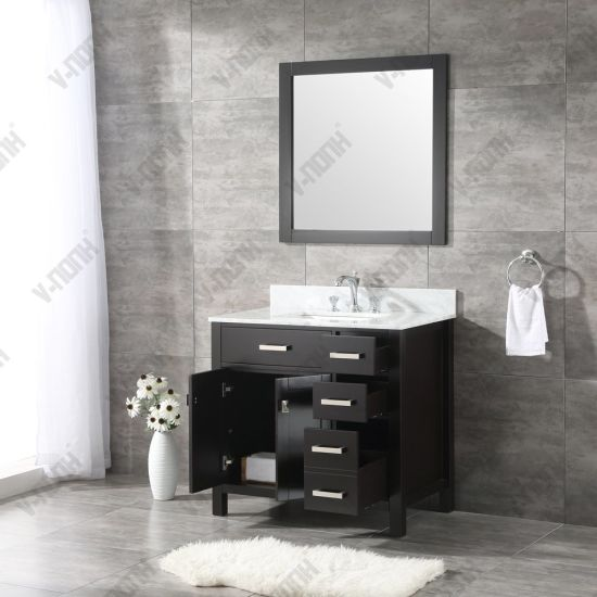 Usa Style 36 Inch Black Modern Bathroom Vanity China Bathroom Cabinet Bathroom Vanity Made In China Com