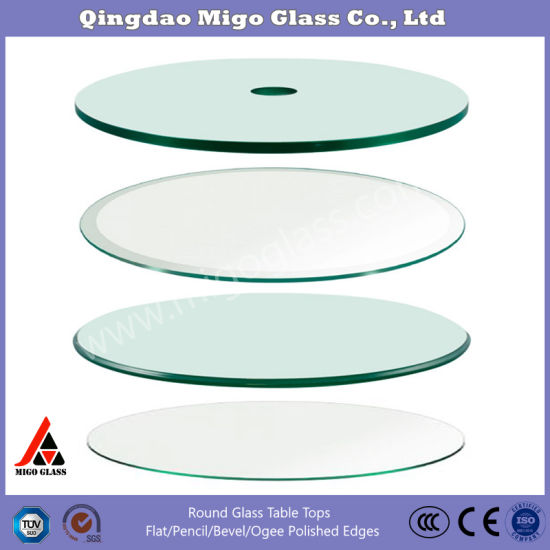 20 24 26 28 square clear tempered glass table top 3 8 thick glass with flat beveled pencil polished edge