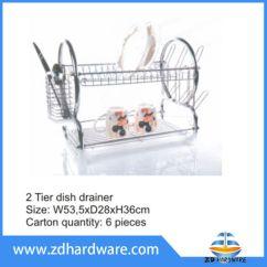 Kitchen Drainer Basket Best Sinks China 2 Tier Dish Fork Knife Cup Storage Spoon Holders Hardware Baskets Rack