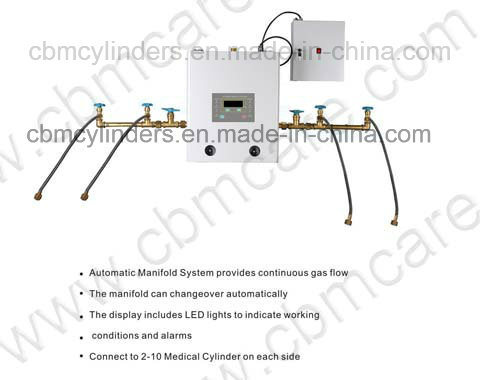 China Medical Automatic O2/N2/CO2/N2o Gas Manifold Systems