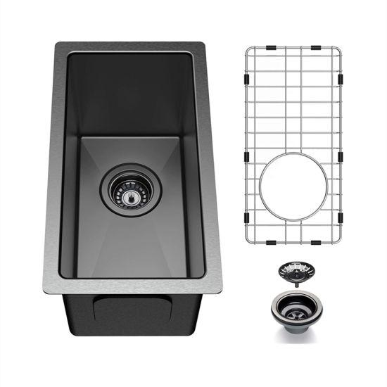 small single bowl bar sink black