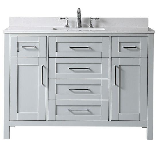 dove grey single sink wood vanity