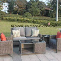 Rattan Half Moon Sofa Set Black Material Sofas China Garden Furniturte Large With 10mm Curve Flat Wicker
