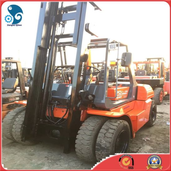 china 2 masters diesel manual japanese used toyota forklift fd70 for