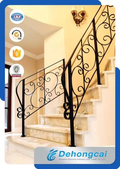High Quality Decorative Metal Stair Railing China Railing Stair | Decorative Handrails For Stairs | Brushed Nickel | Popular | Corner Interior Stair | Exterior Irregular Stair | Iron Staircase