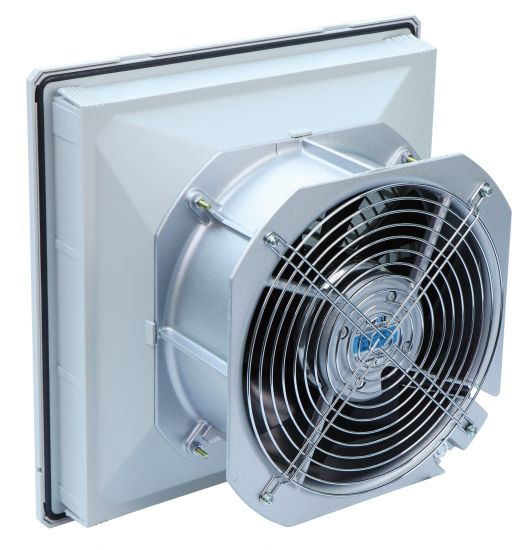 fkl5526 high quality panel mounted 320mm rittal exhaust fan filter