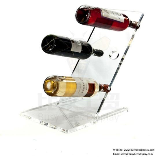 lucite wine rack for 4 bottles clear