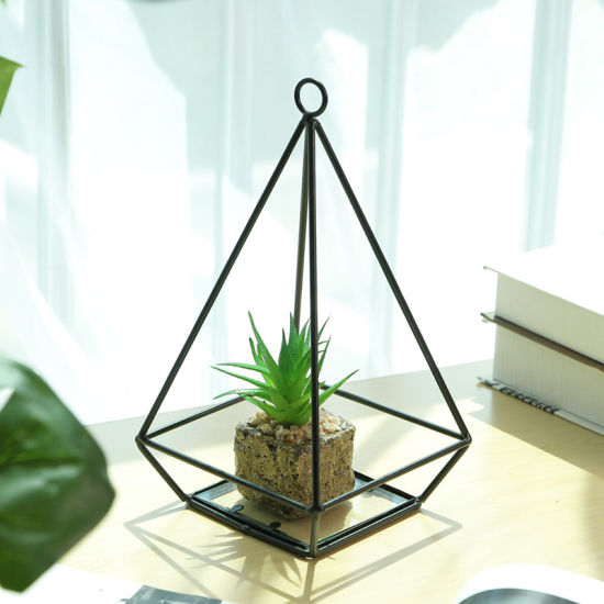 living room ornaments bobs furniture tables china simple modern geometric glass balcony micro landscape flower decoration decorative metal craft