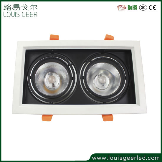 rectangle grill ceiling light