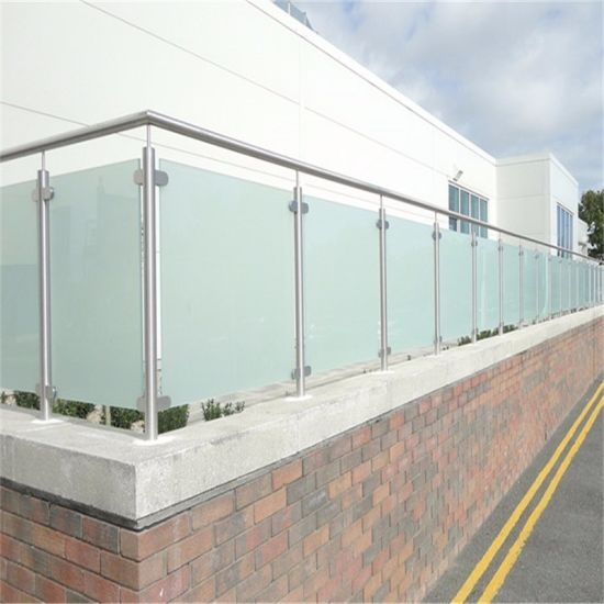 China Stainless Steel Balcony Glass Railing Frosted Or Clear | Frosted Glass Stair Panels | Smoked | Toughened | Deck | Balcony | Contemporary