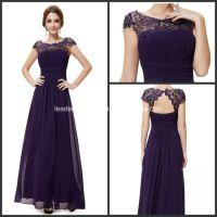 China Purple Lace Chiffon Formal Bridesmaid Dresses P14944 ...