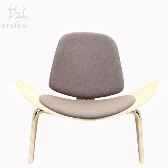 shell chair replica how to buy a lift china hans wegner three legged lounge aviator smile for living room