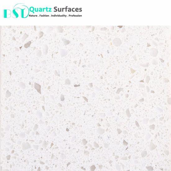 China White Sand Quartz Stone for Restaurant Table Top