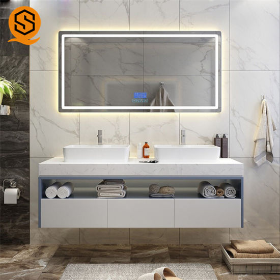 Custom Solid Surface Vanity Bathroom Smart Classic Marble Modern Bathroom Vanity Top With Above Mount Sink China Vanity Top Vanity Bathroom Made In China Com