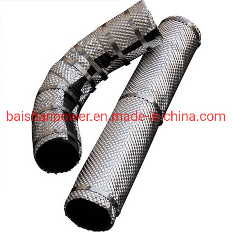 baishan insulation jacket cover for diesel generator part removable and saveguard high temperature exhaust lagging heat resistant fiber cloth for