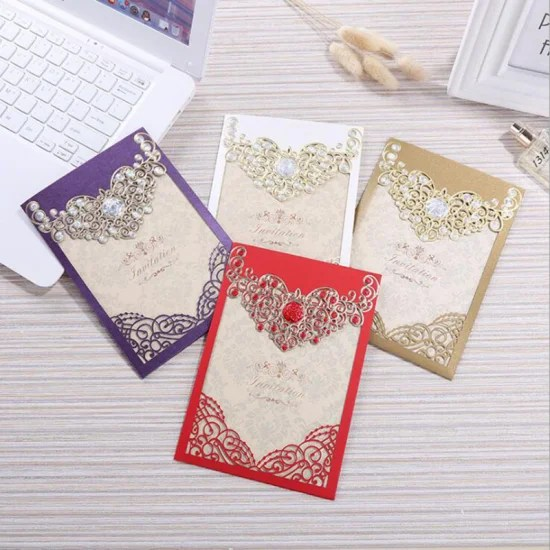 gold stamping wedding invitation card