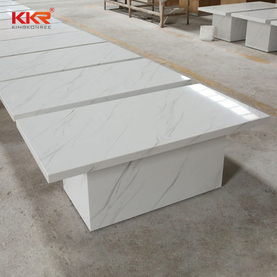 square solid surface white marble