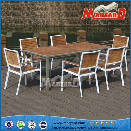 teak table and chairs garden swivel chair amazon china wood dining set restaurant furniture