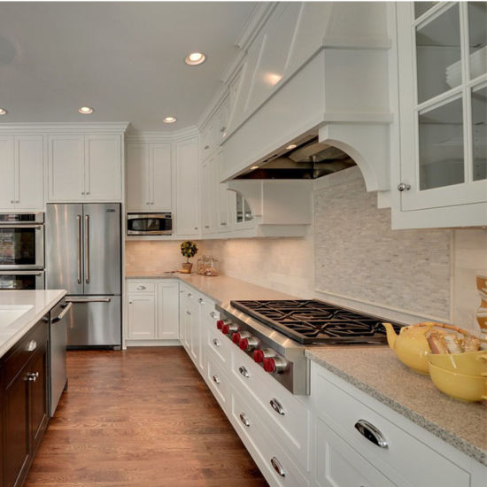 China Guangzhou Factory Custom Built White Kitchen Cabinets For Sale