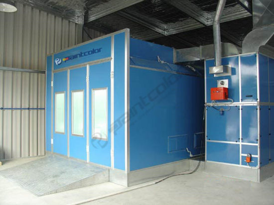 australian designed paint booth spray booth with explosion proof motors and with lightsaccessible from outside cabin